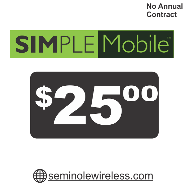 simple mobile 25 plan